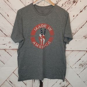 City Streets Made in a America Peace Sign Tee M